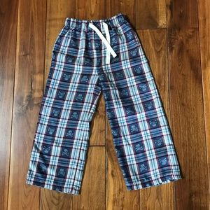 GAP Boy's PJ Plaid Skull Print Bottoms